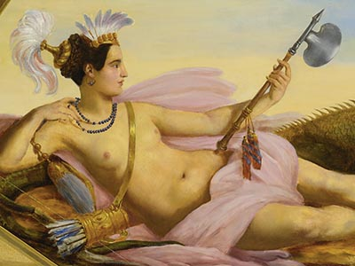 François Dubois Allegories of the continents America.s